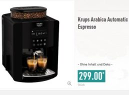 Aldi-Nord: Kaffee-Vollautomat von Krups für 299 Euro im Angebot