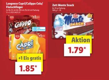 Lidl: Langnese Capri, Calippo Cola und Flutschfinger zum Schnäppchenpreis