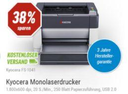 Laserdrucker: Kyocera FS-1041 mit 3 Jahren Garantie für 49 Euro frei Haus