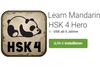 """Gratis-App: """"Learn Mandarin - HSK 4 Hero"""" für 0 statt 8,99 Euro"""