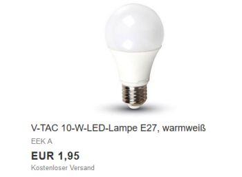 Ebay: LED-Birne mit 10 Watt Leistung für 1,95 Euro frei Haus