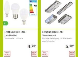 Lidl: LED-Spezial mit Leuchtmitteln und Deckenleuchten (Bild: Lidl.de)