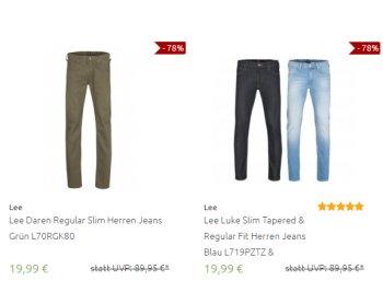 Outlet46: 143 verschiedene Lee-Jeans für je 19,99 Euro frei Haus