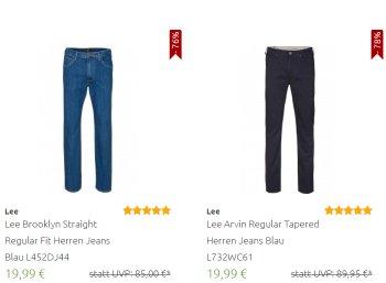 Outlet46: Lee-Jeans zu Preisen ab 19,99 Euro frei Haus