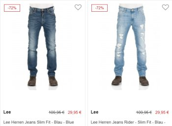 Jeansdirect: Lee-Jeans für 29,95 Euro plus Versand