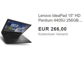 SSD-Notebook: Lenovo IdeaPad 110-15ISK ohne OS für 266 Euro frei Haus