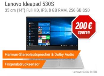 Notebooksbilliger: Lenovo-Ideapad mit Fingerprint für 599 Euro frei Haus