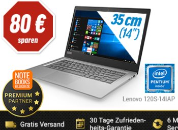 Notebooksbilliger.de: Lenovo 120S-14IAP für 249 Euro frei Haus