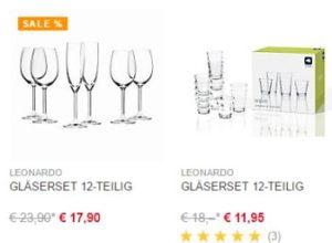 XXXL-Shop: Leonardo-Gläserset für 11,95 Euro