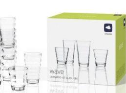 """XXXLShop: 12-teiliges Leonardo-Gläserset """"Wave"""" für 7,99 Euro"""