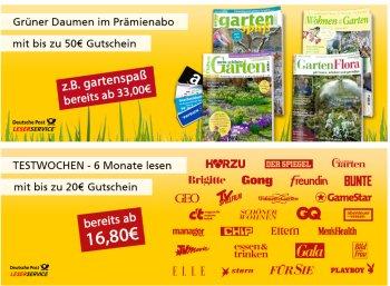 Deutsche Post: Halbjahresabos ab 17,50 Euro mit Gutscheinen über 20 Euro