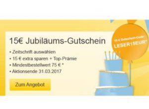 Gratis: Zeitschriften im Jahresabo mit bis zu 3,40 Euro Gewinn