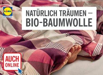 Lidl: Bio-Baumwoll-Spezial mit Bettwäsche und mehr
