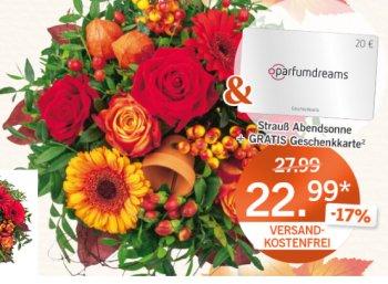 Lidl-Blumen: Parfum-Gutschein über 20 Euro zum Strauß ab 22,99 Euro