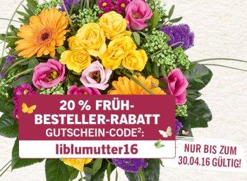 Lidl-Blumen: 20 Prozent Rabatt bis Ende April