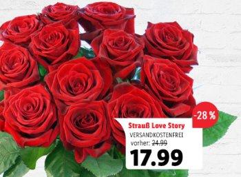 Lidl: Rosen-Spezial mit Blumensträußen ab 17,99 Euro frei Haus