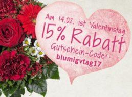 Valentinstag 2017: Die besten Blumen-Schnäppchen im Netz