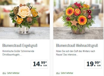 Lidl: Weihnachtliche Blumensträuße ab 10,99 Euro frei Haus