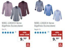 Lidl: Vier bügelfreie Business-Hemden für 34,96 Euro frei Haus