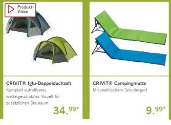 Lidl: Camping-Spezial mit Zelten, Zubehör und zahlreichen weiteren Schnäppchen
