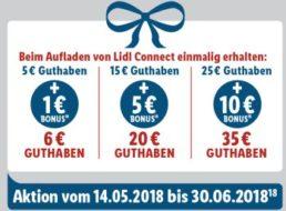 Lidl Connect: 10 Euro Bonus bei Guthaben-Aufladung über 25 Euro