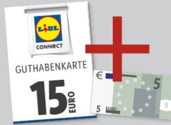 Lidl Connect: 5 Euro Guthaben geschenkt bei Aufladung über 15 Euro