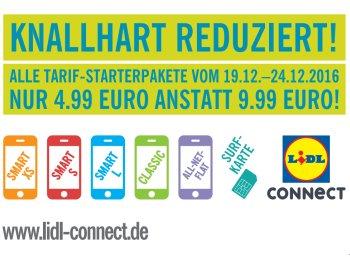 Lidl Connect: Starterpaket mit 10 Euro Guthaben für 4,99 Euro frei Haus
