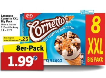 Lidl: Achterpack Cornetto für 1,99 Euro ab Montag