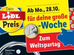 Lidl: Ein-Euro-Woche zum Weltspartag mit zahlreichen Artikeln