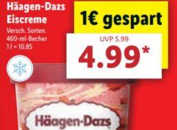 Lidl: Häagen-Dasz Eiscreme (diverse Sorten) für 4,99 Euro