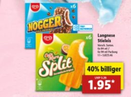Lidl: Markeneis (Magnum, Nogger & Co.) zum Minipreis bis Samstag