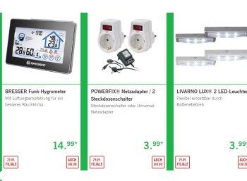 Lidl: Energiespar-Spezial mit Luftentfeuchtern, Thermostaten und LED-Leuchten