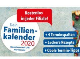 Lidl: Familienkalender 2020 ab sofort zum Nulltarif