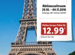 Lidl: Flixbus-Tickets für pauschal 12,99 Euro (einfache Fahrt) zu haben