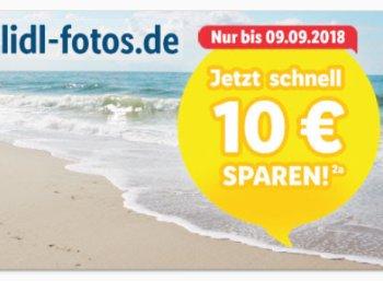Lidl-Fotos: 10 Euro Rabatt ab 40 Euro Warenwert für wenige Tage