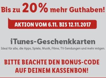 Lidl: Bis 20 Prozent mehr Guthaben bei iTunes-Karten bis Samstag