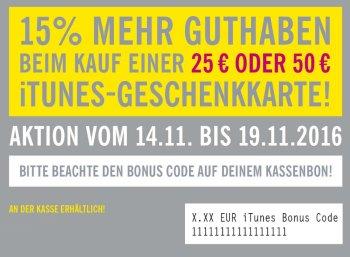 Lidl: iTunes-Guthaben von bis zu 7,50 Euro geschenkt beim Kauf von Karten