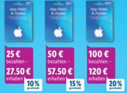 Lidl: iTunes-Guthabenkarten mit bis zu 20 Euro Extra-Guthaben geschenkt