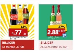 Lidl: Markenwoche mit zahlreichen Schnäppchen von Cola bis Persil