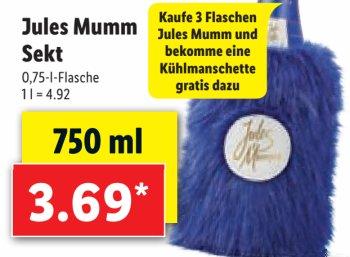 Lidl: Kühlmanschette beim Kauf von drei Mumm-Flaschen geschenkt