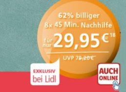 Lidl: Acht Stunden Nachhilfe via Schülerhilfe für 29,95 Euro