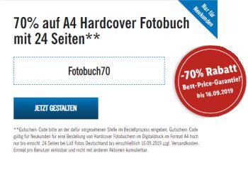 Lidl: Fotobuch A4 Hardcover mit 70 Prozent Rabatt für 4,50 Euro