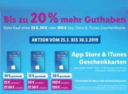 Lidl: Bis zu 20 Euro geschenkt beim Kauf von iTunes-Guthabenkarten