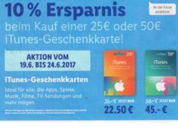 Lidl: Zehn Prozent iTunes-Rabatt in der kommenden Woche