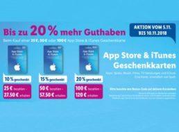 Lidl: Bis zu 20 Euro geschenkt beim Kauf von iTunes-Geschenkekarten