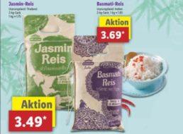 Lidl: Reis im Zwei-Kilo-Pack im Rahmen der Asien-Woche