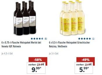 Lidl: Sechserpaket gut bewerteter Merlot für 9,99 statt 24 Euro
