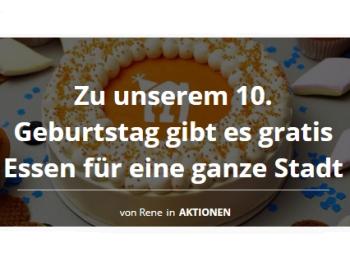 """Lieferando: """"Gratis-Essen"""" für eine deutsche Großstadt am 22. Februar 2019"""