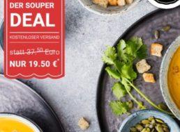 Littlelunch: Zwölf Gläser Bio-Suppen für 19,50 Euro frei Haus