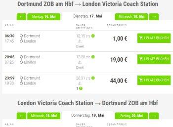 Flixbus: Nach London und zurück für nur zwei Euro